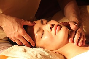 Reflexology. facial reflexology